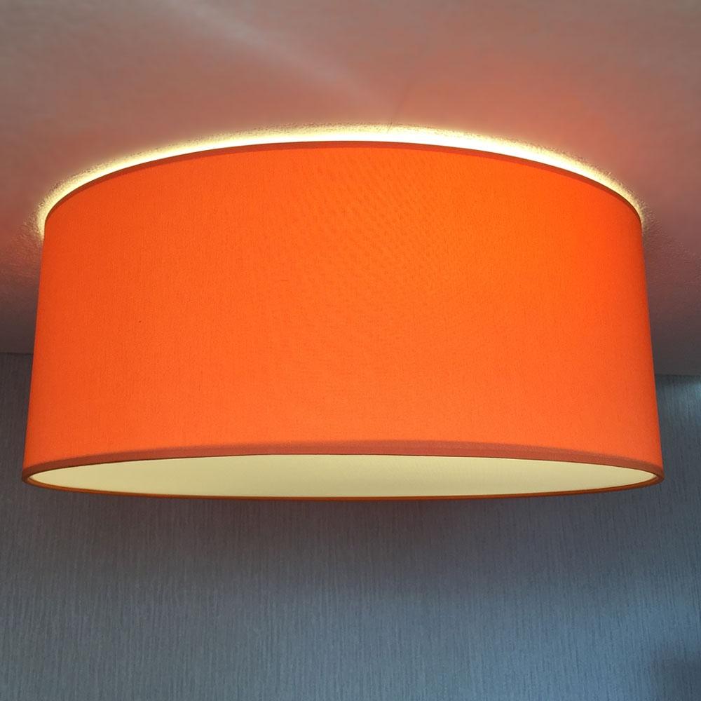 Flush Drum In Burnt Orange Imperial Lighting